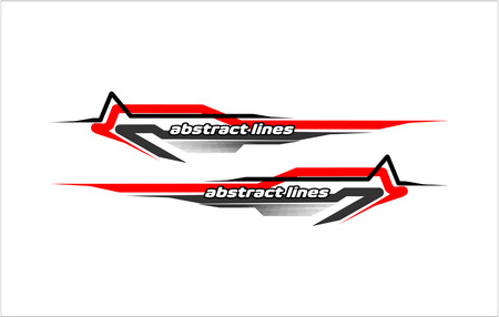 abstract modern shape lines vestor design for car sticker and vehicle branding Vectores