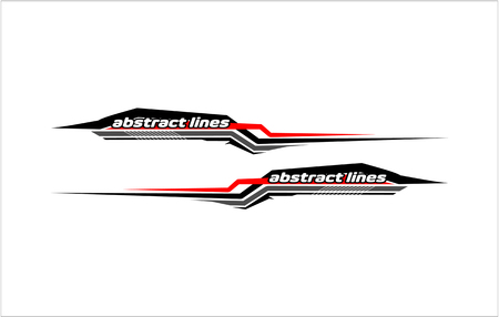 Abstract modern shape lines vector design for car sticker and vehicle branding.