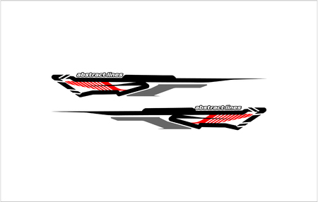 abstract tech shape lines design for car Stripe sticker design Illusztráció