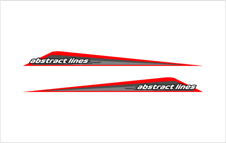 Abstract tech shape lines design for car stripe sticker design. Illusztráció