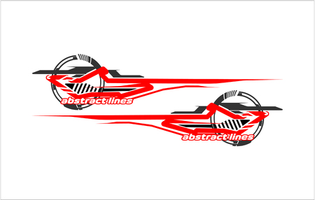 Abstract tech shape lines design for car stripe sticker design. 일러스트