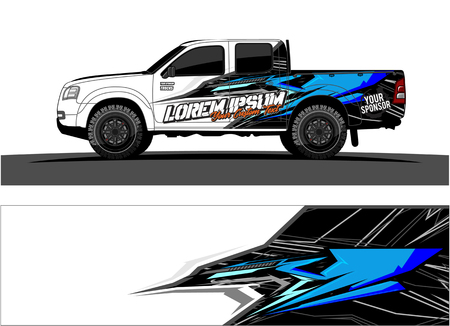 Car livery Graphic vector. abstract racing shape design for vehicle vinyl wrap background Illustration