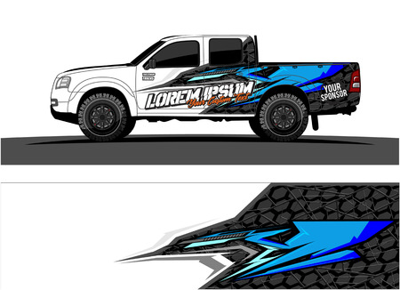 car livery Graphic vector. abstract racing shape design for vehicle vinyl wrap background Stock fotó - 102089004