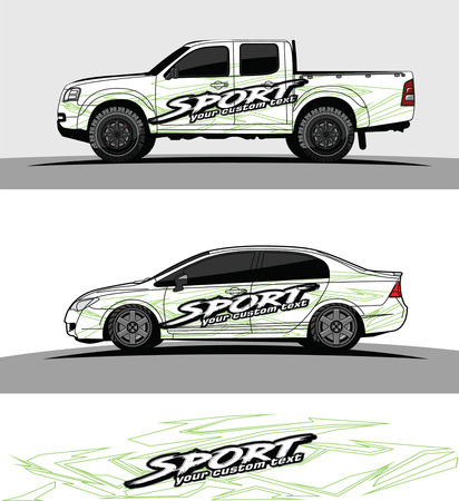 Car livery Graphic vector. abstract racing shape design for vehicle vinyl wrap background.