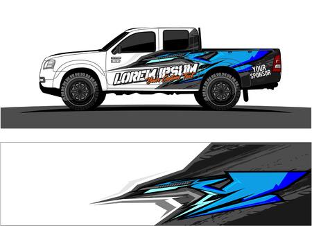 livrea auto Grafica vettoriale. disegno astratto di forma da corsa per lo sfondo del rivestimento in vinile del veicolo