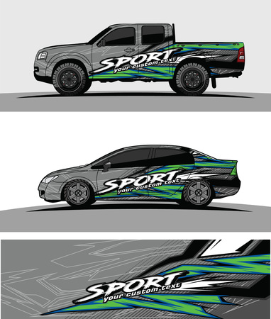Vehicles live Graphic vector. Abstract racing shape design for vehicle vinyl wrap background Illustration