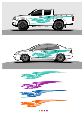 Vehicles livery Graphic vector. Abstract racing shape design for vehicle vinyl wrap background