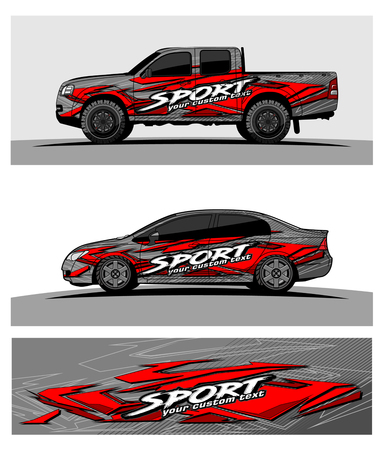 Abstract racing vector background for truck car and vehicles wrap design.
