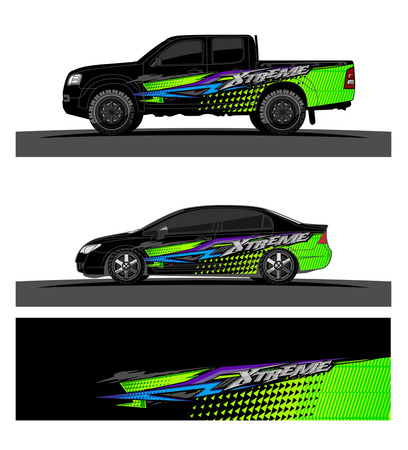 Abstract racing vector background for truck car and vehicles wrap design. 스톡 콘텐츠 - 100588858