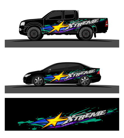 Abstract racing vector background for truck car and vehicles wrap design. Stock fotó - 100588864