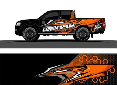 Astratto sfondo vettoriale da corsa per auto camion e veicoli avvolgere design. Vettoriali