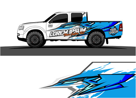Abstract racing vector background for truck car and vehicles wrap design. Reklamní fotografie - 100588867