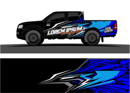 Astratto sfondo vettoriale da corsa per auto camion e veicoli avvolgere design.
