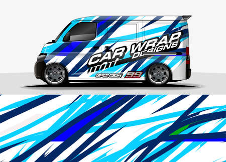 Vehicle decal livery concept for sticker branding
