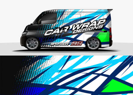 decal concept design for vehicle sticker wrap