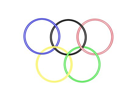 olympic games: rings Olympic stylizes, sporting symbol of a competition international,