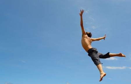 freedom, gliding flight of a man naked chest, symbolizes freedom, free,
