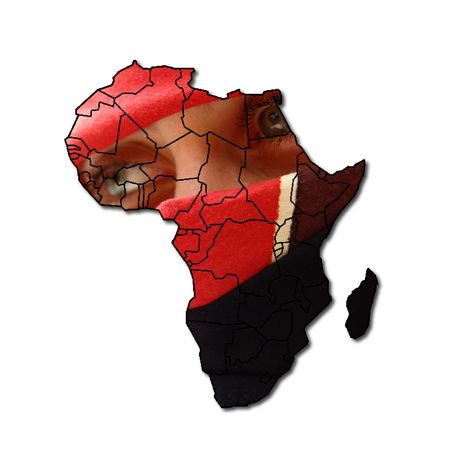 clandestine: reflexion on the sad one intends of Africa,  Stock Photo