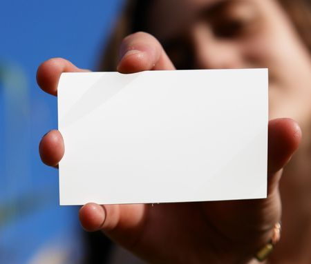 addresses: demonstration, white chart held by a hand of woman, Stock Photo