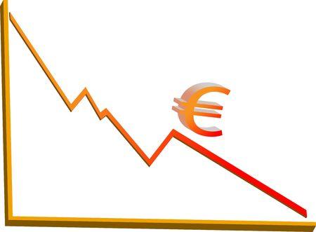 Financiële crisis vector Stockfoto