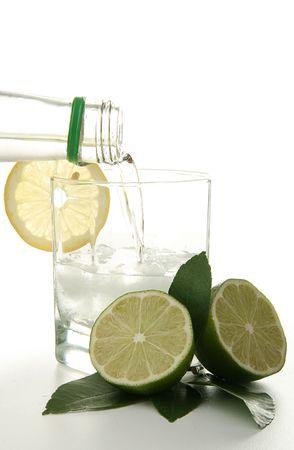 cocktail, rum and lemon photo