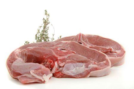 lamb chop isolated Stock Photo - 5104593