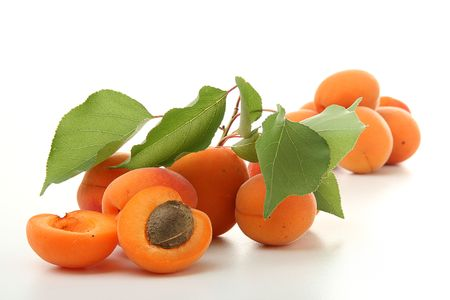 fresh apricot isolated on white background photo