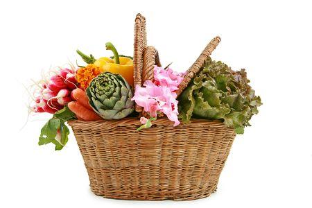 wicker basket of vegetable Stock Photo - 5304899