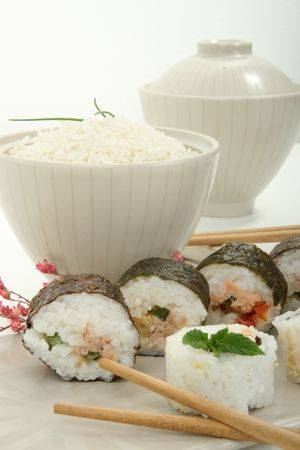 japan traditional food roll photo
