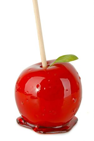 toffee: geïsoleerde toffee appel Stockfoto
