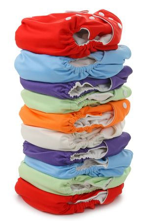 nappies isolated on white background Stock Photo - 7602278