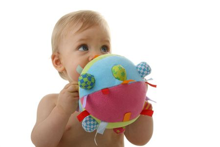 baby playing with ball Stock Photo - 7602248
