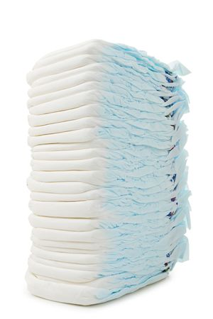 incontinence: isolated pile of diaper Stock Photo