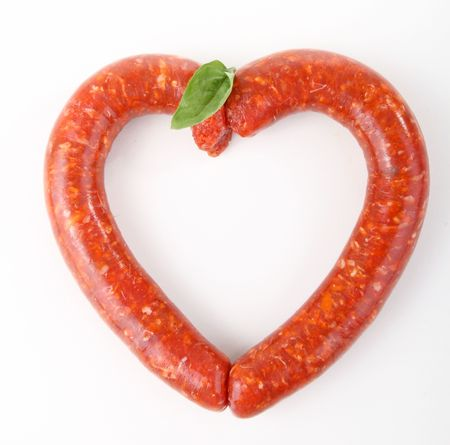 white sausage: sausage
