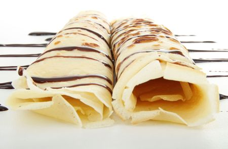 chocolate crepe Stock Photo - 7832387