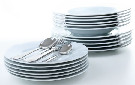 pile of plates Stock Photo - 7912124