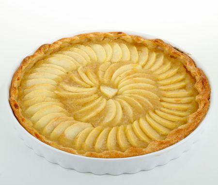 apple tart: isolated apple tart
