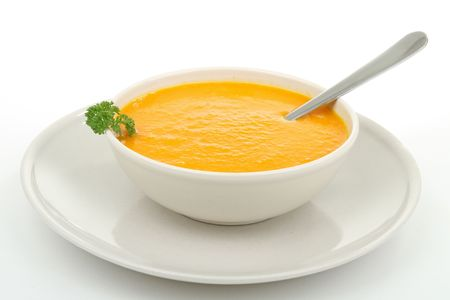 vegetable soup: bowl of soup