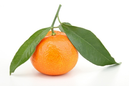 clementine: isolated clementine Stock Photo