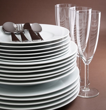 plates and glasses Stock Photo - 8285113