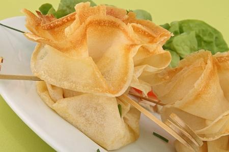 filo: filo pastry, canape food