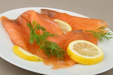 smoked salmon Stock Photo - 8450655