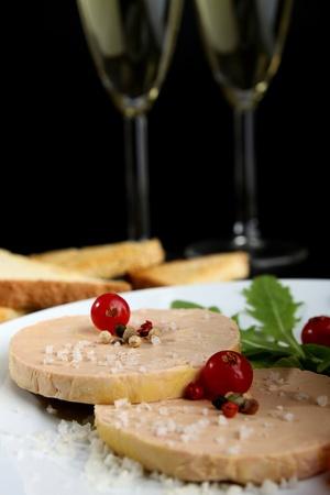foie gras: foie gras and champagne Stock Photo