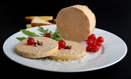 foie gras: plate of foie gras Stock Photo