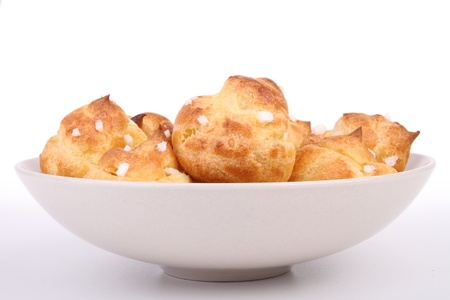 choux: isolated pastry choux Stock Photo