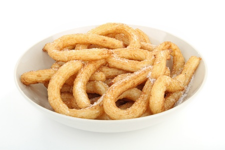 churros: isolated plate of churros