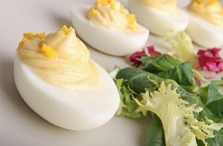 mahonesa: huevo deviled Foto de archivo