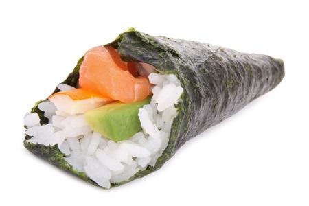 traditonal: temaki sushi isolated on white