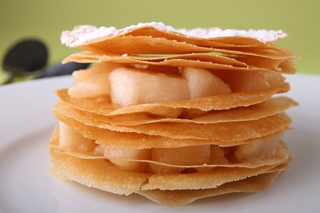 mille: pear mille feuille Stock Photo