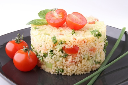kuskus: tabbouleh,couscous and vegetable